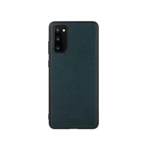 Кожаный чехол накладка Melkco Ingenuity Series для Samsung Galaxy S20, темно-зеленый