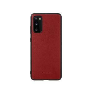Кожаный чехол накладка Melkco Ingenuity Series для Samsung Galaxy S20, красный