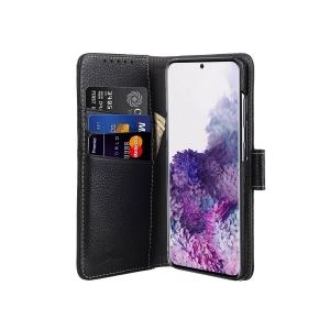Кожаный чехол книжка Melkco для Samsung Galaxy S20+ - Wallet Book Type, черный