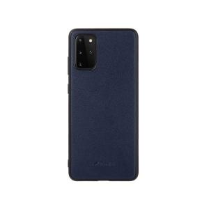 Кожаный чехол накладка Melkco Ingenuity Series для Samsung Galaxy S20+, темно-синий