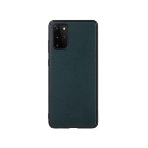 Кожаный чехол накладка Melkco Ingenuity Series для Samsung Galaxy S20+, темно-зеленый