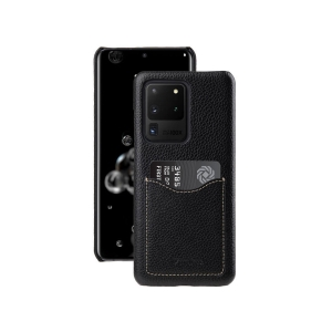 Кожаный чехол накладка Melkco для Samsung Galaxy S20 Ultra - Card Slot Back Cover V2, черный