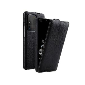 Кожаный чехол флип Melkco для Samsung Galaxy S20 Ultra - Jacka Type - черный