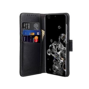 Кожаный чехол книжка Melkco для Samsung Galaxy S20 Ultra - Wallet Book Type, черный
