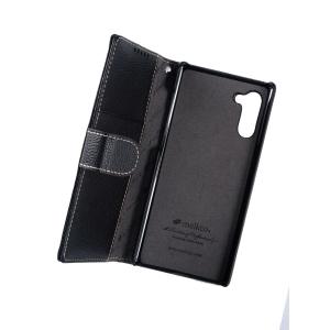 Кожаный чехол книжка Melkco для Samsung Galaxy Note 10 - Wallet Book Type - черный