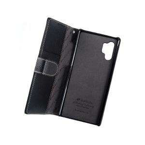 Кожаный чехол книжка Melkco для Samsung Galaxy Note 10+ - Wallet Book Type - черный