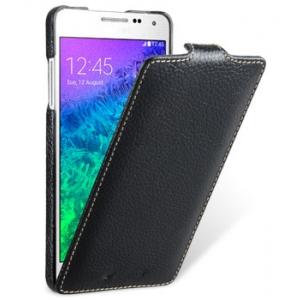 Кожаный чехол Melkco для Samsung Galaxy A7 - Jacka Type - чёрный