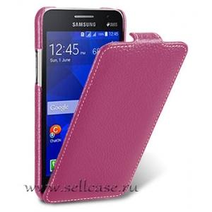 Кожаный чехол Melkco для Samsung Galaxy Core 2 Duos / G355H - Jacka Type - сиреневый