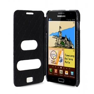 Кожаный чехол Melkco для Samsung Galaxy Note GT-N7000 / Note LTE GT-N7005 - ID Book Type - чёрный