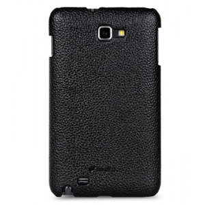 Кожаный чехол Melkco Leather Case для Samsung Galaxy Note GT-N7000 / Note LTE GT-N7005 - Snap Cover - чёрный