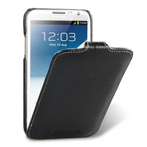 Кожаный чехол Melkco для Samsung Galaxy Note 2 GT-N7100 - Jacka Type - чёрный