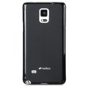 Силиконовый чехол Melkco Poly Jacket TPU case для Samsung Galaxy Note 4 - черный матовый