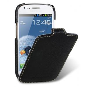 Кожаный чехол Melkco для Samsung Galaxy S3 Mini GT-I8190 - Jacka Type - чёрный