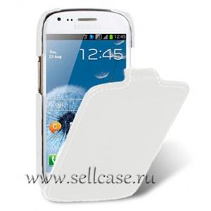 Кожаный чехол Melkco для Samsung Galaxy S3 Mini GT-I8190 - Jacka Type - белый