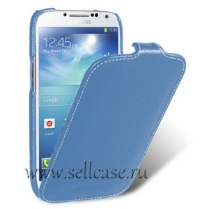 Кожаный чехол Melkco для Samsung Galaxy S4 GT-I9500 - Jacka Type - синий