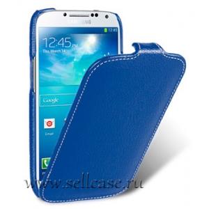 Кожаный чехол Melkco для Samsung Galaxy S4 GT-I9500 - Jacka Type - темно-синий