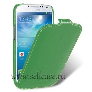 Кожаный чехол Melkco для Samsung Galaxy S4 GT-I9500 - Jacka Type - зеленый