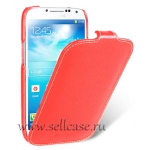 Кожаный чехол Melkco для Samsung Galaxy S4 GT-I9500 - Jacka Type - красный