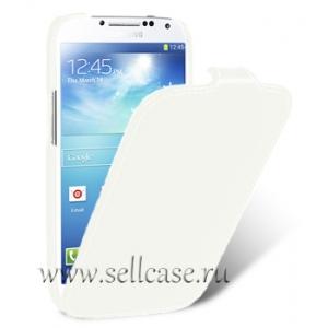 Кожаный чехол Melkco для Samsung Galaxy S4 Mini GT-I9190 - Jacka Type - белый