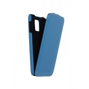 Кожаный чехол книжка Melkco для Samsung Galaxy S5 - Jacka Type - голубой