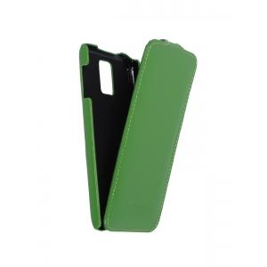 Кожаный чехол книжка Melkco для Samsung Galaxy S5 - Jacka Type - зеленый