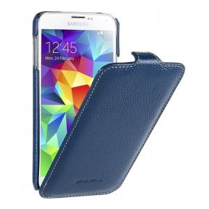 Кожаный чехол книжка Melkco для Samsung Galaxy S5 - Jacka Type - синий