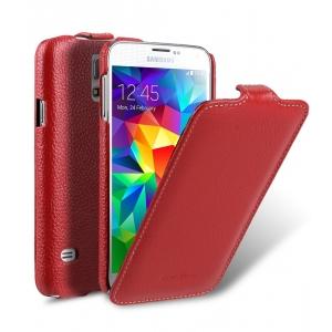 Кожаный чехол книжка Melkco для Samsung Galaxy S5 - Jacka Type - красный