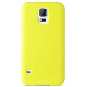 Силиконовый чехол Melkco Poly Jacket TPU Case для Samsung Galaxy S5 Mini - желтый