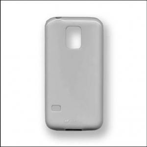 Силиконовый чехол Melkco Poly Jacket TPU Case для Samsung Galaxy S5 Mini - серый