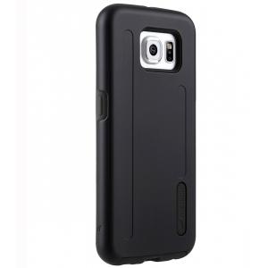 Двухслойный противоударный чехол Melkco Kubalt Double Layer Case для Samsung Galaxy S6 edge - чёрный