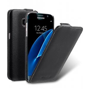 Кожаный чехол Melkco для Samsung Galaxy S7 - Jacka Type - черный