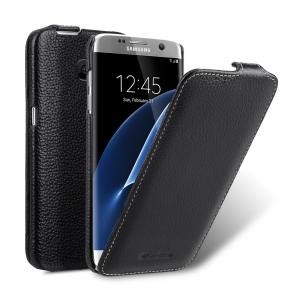 Кожаный чехол Melkco для Samsung Galaxy S7 edge - Jacka Type - черный