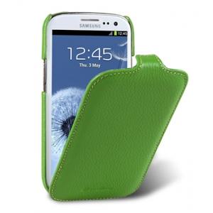 Кожаный чехол Melkco для Samsung Galaxy SIII GT-I9300 / I9308 - Jacka Type - зелёный