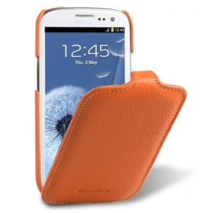 Кожаный чехол Melkco для Samsung Galaxy SIII GT-I9300 / I9308 - Jacka Type - оранжевый