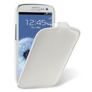 Кожаный чехол Melkco для Samsung Galaxy SIII GT-I9300 / I9308 - Jacka Type - белый