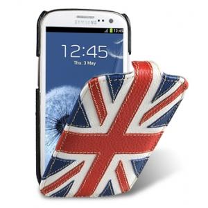 Кожаный чехол Melkco для Samsung Galaxy SIII GT-I9300 - Craft Edition Jacka Type - Флаг Великобритании