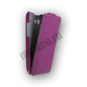 Кожаный чехол Melkco для Samsung Galaxy S Advance I9070 - Jacka Type - сиреневый