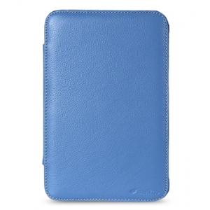 """Кожаный чехол Melkco для Samsung Galaxy Tab 7.0"""" Plus / P6210 / P6200 - Kios Type Ver.2 - синий"""