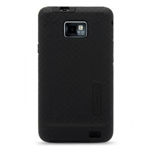 Двухслойный противоударный чехол Melkco Kubalt Double Layer Case для  для Samsung I9100 Galaxy S II / Galaxy S2 Plus GT-I9105 - Kubalt Type - черный