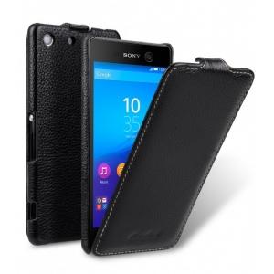 Кожаный чехол Melkco для Sony Xperia M5/M5 Dual - Jacka Type - чёрный