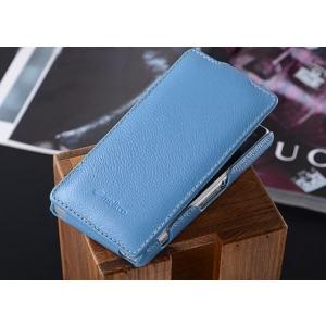 Кожаный чехол книжка Melkco для Sony Xperia Z1 Compact M51w / Z1 Mini D5503 - Jacka Type - синий