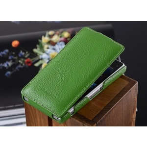 Кожаный чехол книжка Melkco для Sony Xperia Z1 Compact M51w / Z1 Mini D5503 - Jacka Type - зеленый