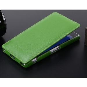 Кожаный чехол Melkco для Sony Xperia Z2 / D6503 / L50w - Jacka Type - зеленый