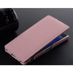 Кожаный чехол Melkco для Sony Xperia Z2 / D6503 / L50w - Jacka Type - розовый