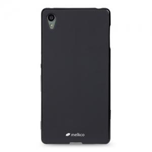 Силиконовый чехол Melkco Poly Jacket TPU case для Sony Xperia Z3 Plus (Xperia Z3 +) / Xperia Z4 / e6533 - черный матовый