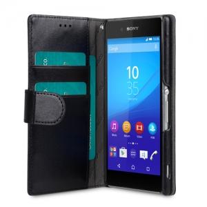 Чехол Melkco MINI PU для Sony Xperia Z3 Plus (Xperia Z3 +) / Xperia Z4 / e6533 - Wallet Book Type - чёрный