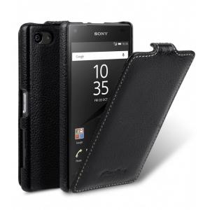 Кожаный чехол Melkco для Sony Xperia Z5 Compact - Jacka Type - чёрный