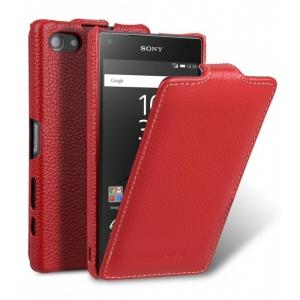 Кожаный чехол Melkco для Sony Xperia Z5 Compact - Jacka Type - красный