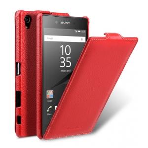 Кожаный чехол Melkco для Sony Xperia Z5 Premium - Jacka Type - красный