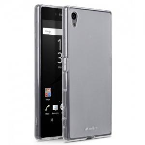 Силиконовый чехол Melkco Poly Jacket TPU case для Sony Xperia Z5 Premium - прозрачный матовый